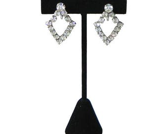 Vintage 1940's Rhinestone Drop Earrings
