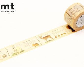 30mm width | MT EX - Vintage Encyclopedia Animal Washi Masking Tape