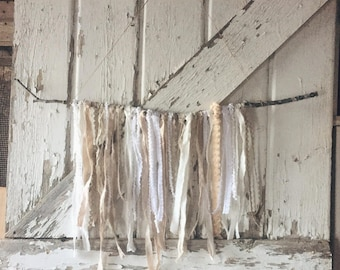 Twig Wall Hanging / White