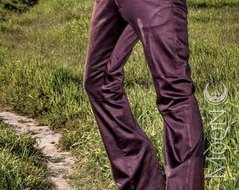 "NEW Men's ""Gahan"" Sateen Rivet Pants in Brown by Opal Moon Designs (Sizes 30-34 waist)"