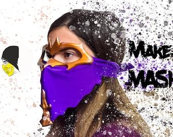 Cosplay Replica Mortal Kombat Rain Mask