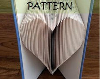 Book folding Pattern: HEART design (including instructions) – for book folding beginners - make this perfect teacher's gift