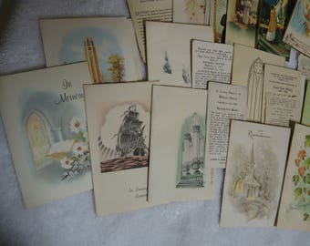 Connellsville Funeral Home Cards - and vicinity residents 1949 - 1969