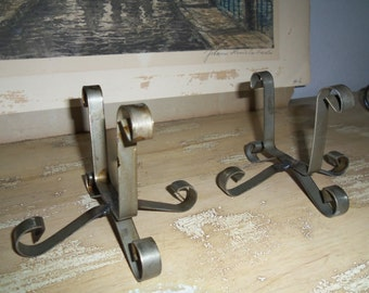 Pair of Iron Stands for 3 to 12 Hole Sugar Molds, Rustic, Storage, Organizer, Wedding