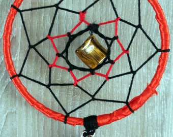 Lovely Red with semi precious stone dream catcher / Lovely Red dream catcher with precious stone