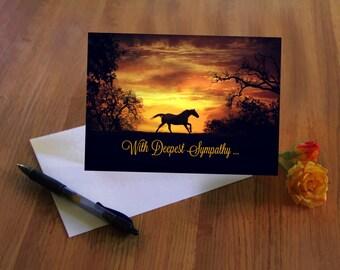 Horse Owner Condolence, Horse Sympathy Card, Sympathy Cards for Horse Owners, Passing of Horse, With Deepest Sympathy Card
