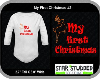My First Christmas, Can be personalized Adorable, Baby first christmas, first christmas, Reindeer baby, Baby boy, Baby girl,