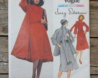 Vintage Pattern Vogue American Jerry Silverman 1513, Dress and Long Jacket, American Designer Uncut, size 12, fswp
