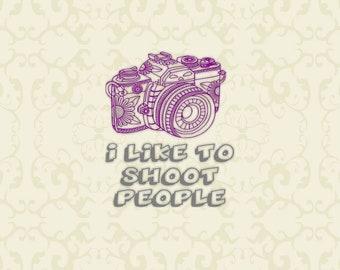 I like to shoot people SVG