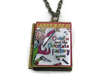 Charlie and the Chocolate Factory Book Locket Necklace