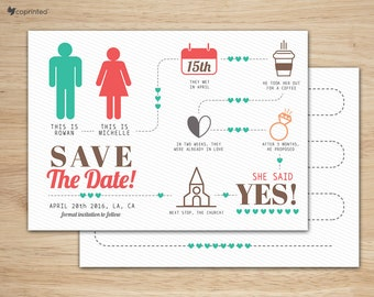 Funny Save The Date - Save the date card, Save the date postcard, Travel save the date, save the date postcard template