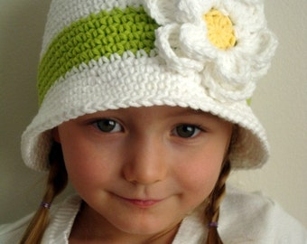 Daisy hat for girl (Any sizes)