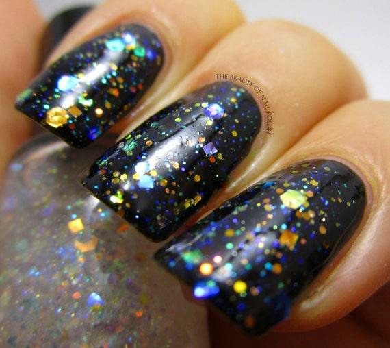 Diamond Ring - Opal Glitter Iridescent Nail Polish Aurora Borealis nail 5 free nail polish handmade indie nail vegan cruelty free