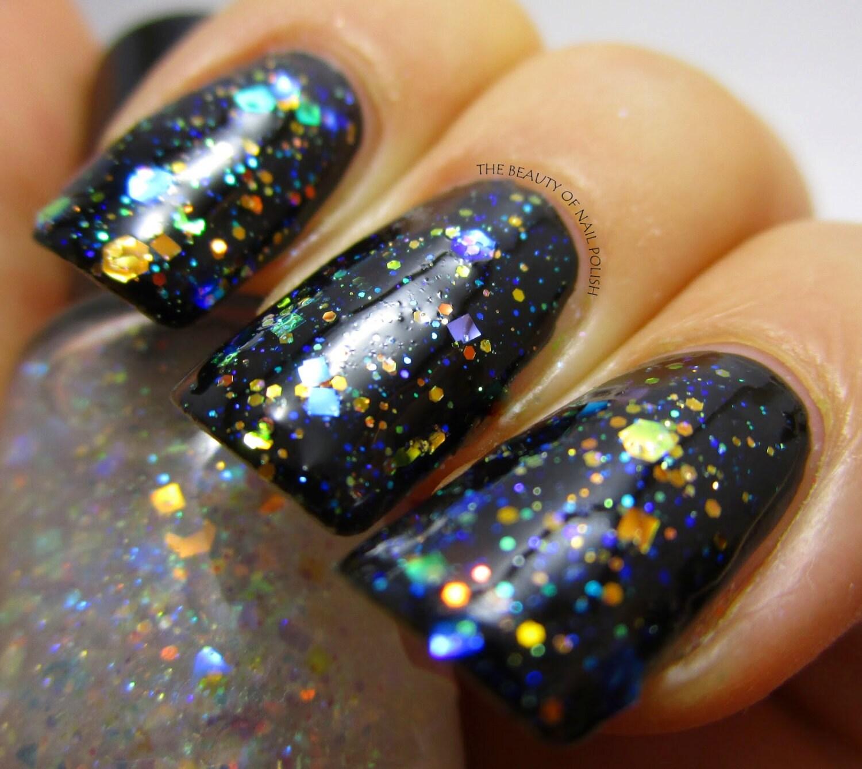 Diamond Ring Opal Glitter Iridescent Nail Polish Aurora