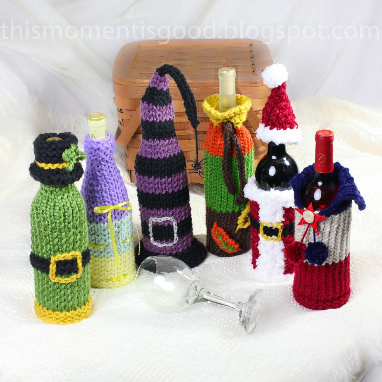 Wine bottle cover knitting pattern