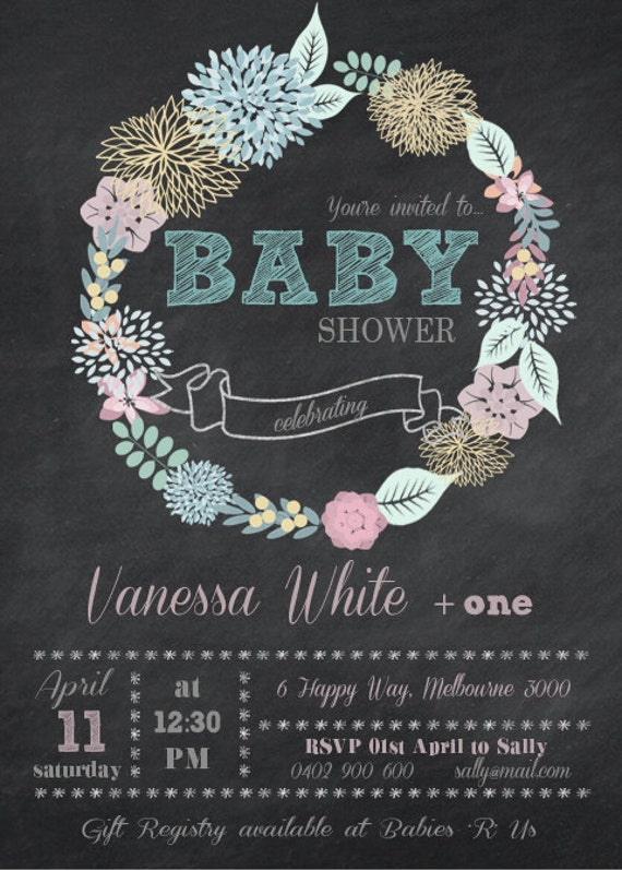 Baby Shower Diy Printable Invitation Save The Date Baby