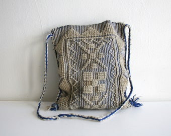 Wool Knotted Textile Purse