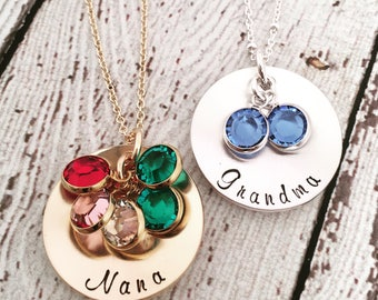 Mothers Day Gift for Grandma, Birthstone Necklace for Grandma,  Nana Necklace, Grandmother Necklace, Grandma Jewelry, Birthstone Jewelry