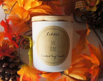BAY RUM/Handpoured Scented Soy Candle