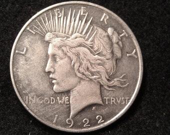 1922-d PEACE SILVER DOLLAR  inv284