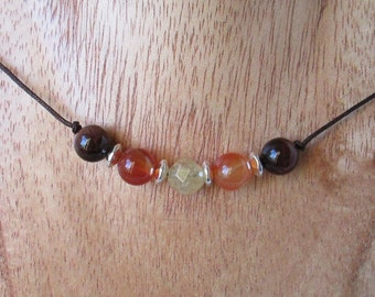 I Am Motivated Gemstone Necklace