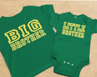 Big Brother shirt Big And Little Brother Shirts Set Of 2, pregnancy reveal, Baby Brother, Big Brother, Gift Ideas, New Baby Announcement