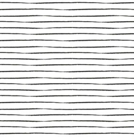 Black White Baby Bedding French Stripe Mini Crib Sheet Set