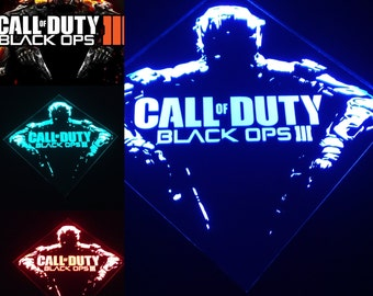 Call of Duty Remote Controlled Color Changing LED lit mirror