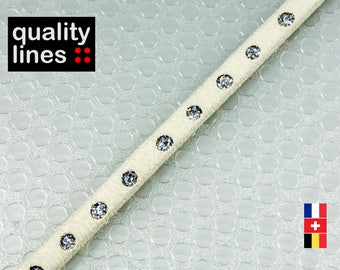 Cord 5mm flat effect white Rhinestones, 18cm X 18 CM is sufficient to make a bracelet up to size XL