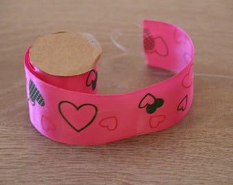 Pink Hearts Ribbon