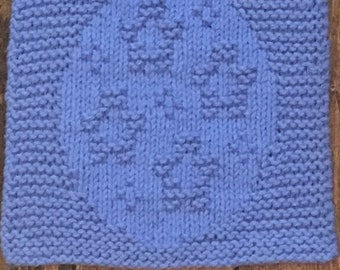 Violet Flower Dishcloth!