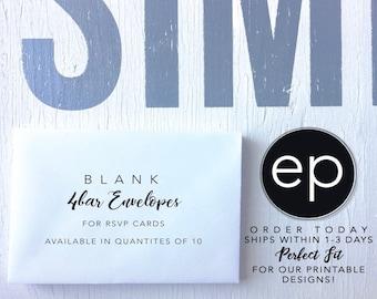 Blank 4bar Envelopes - White