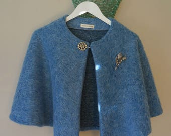 Women's knitted mohair  cape