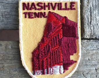 Nashville Tennessee Vintage Souvenir Travel Patch from Voyager - New In Original Package