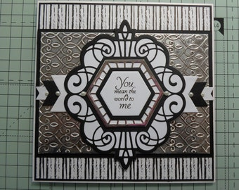 Handmade greeting card - left blank inside for your message