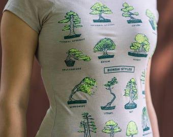 Botany Plant Shirt. Gift for Gardeners Bonsai Tree Graphic Tee Shirt Botanical Plant for botanists, gardeners, nature, Tree T shirt