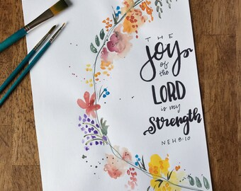 Joy of the Lord Watercolor Print
