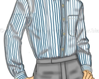 Classic shirt for men, 3 patterns for 3 different sizes