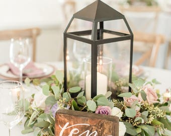 Hand Lettered Wood Table Numbers- Wedding, Party or Special Event