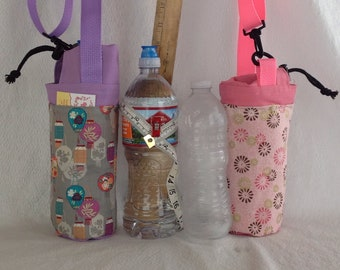 Insulated tote for 16 - 25 oz. (half liter to 750ml) containers pink or lavender