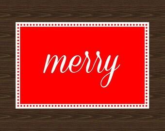 Merry Poster, Christmas Decor