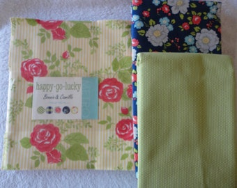 Fabric Pack:  Happy Go Lucky by Bonnie and Camille for Moda - please see listing for additional details