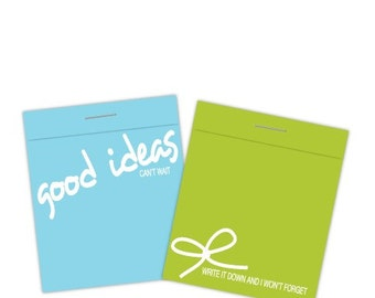 ON-MIND on-paper (set of 2 matchbook note pads)