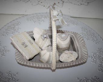 Basket of pastries scented plaster