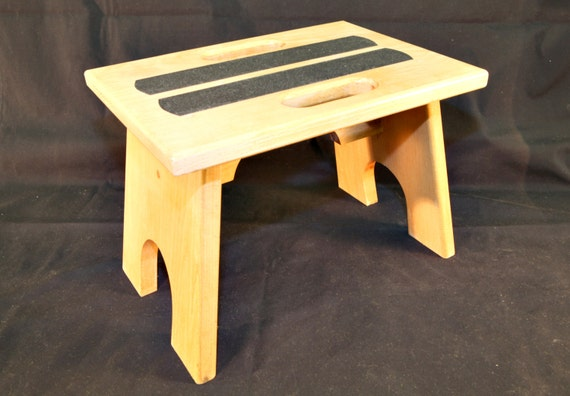 31. Hardwood Bench Step Stool