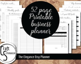 "Etsy Planner, Style-""Elegance"", business planner, Etsy Business, Planner, Printable planner, Small business, Etsy shop, shop planner"