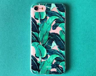 Tropical Banana Leaf iPhone Case