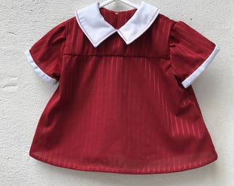The Fine Claret Baby Top