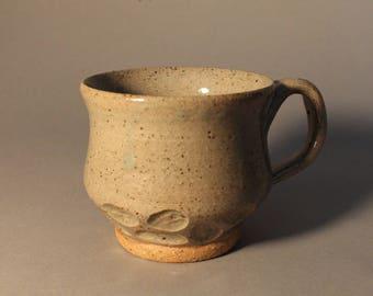 Hand Carved Ceramic Mug