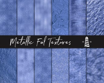 Ink Blue Foil Papers, Elegant Ink Blue Textures, Luxury Blue Foil & Glitter Backgrounds, Ink Blue Digital Paper, BUY12FOR15